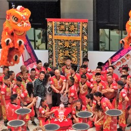 Lion dancers in China Town, Sydney.