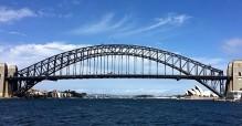 The famous Sydney Harbour Bridge.